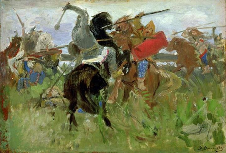 Васнецов: Битва между скифами и славянами