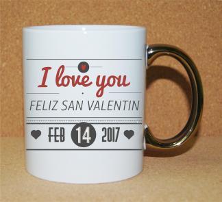 Taza-Personalizado-San-Valentín-Asa-Oro