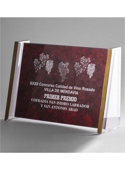 1303-Cristal-Economico-Trofeo-Placa-Reconocimiento-Homenaje