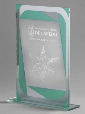 1362-Cristal-Economico-Trofeo-Placa-Reconocimiento-Homenaje