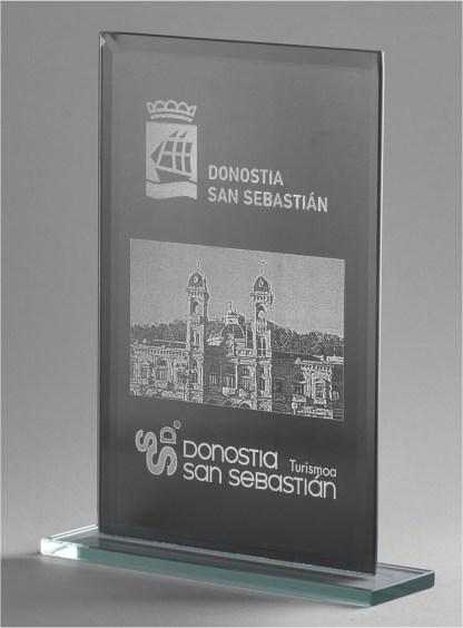 1363-Cristal-Economico-Trofeo-Placa-Reconocimiento-Homenaje