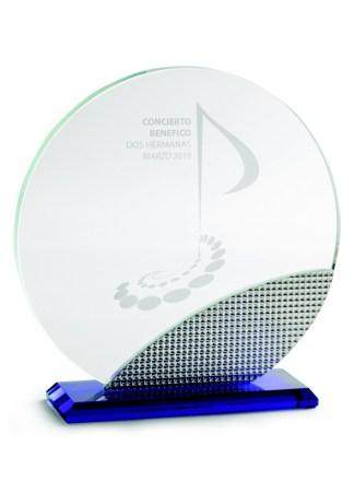 2336-Cristal-Economico-Trofeo-Placa-Reconocimiento-Homenaje
