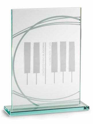 2355-Cristal-Economico-Trofeo-Placa-Reconocimiento-Homenaje