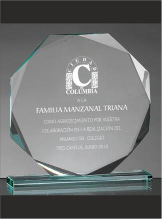Trofeo-Boda-Personalizados-cristal-Placa-de-Conmemorativa-Eventos-Bodas-4031