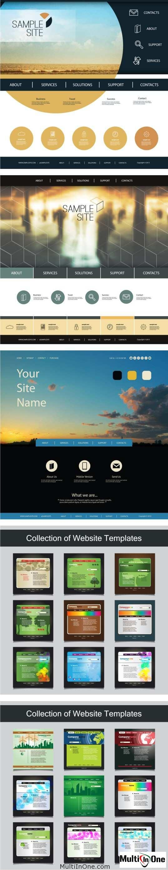 Big Set Of Websites Templates 3