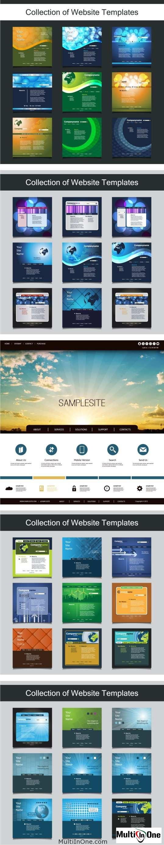 Big Set Of Websites Templates 4