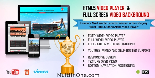 HTML5 Video Player & FullScreen Video Background Preview