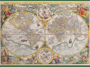 poznaję świat baner ze starymi mapami