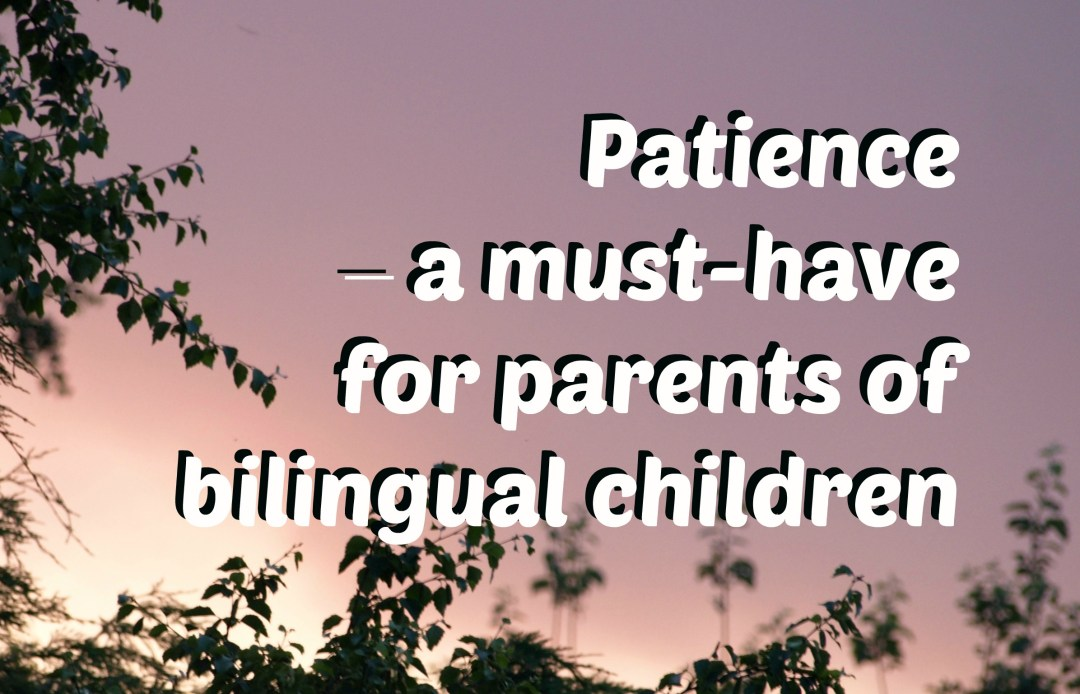 Patience - a must-have for parents of bilingual children
