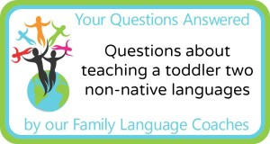 Q&A: Questions about teaching a toddler two non-native languages