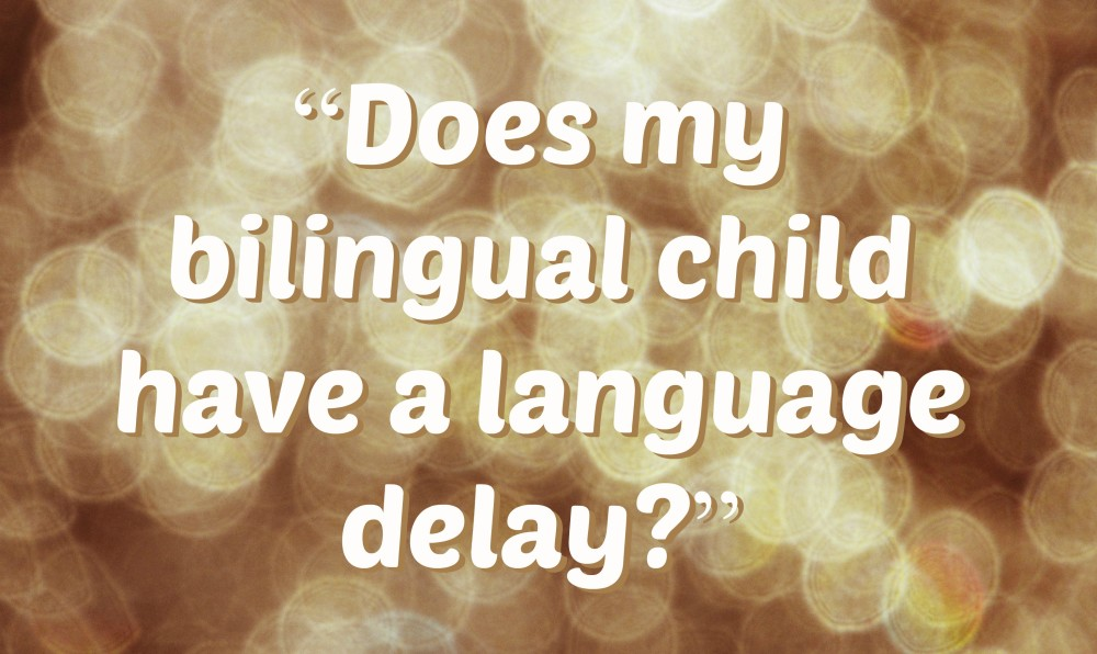 """Does my bilingual child have a language delay?"""