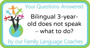 Q&A: Bilingual 3-year-old does not speak - what to do?