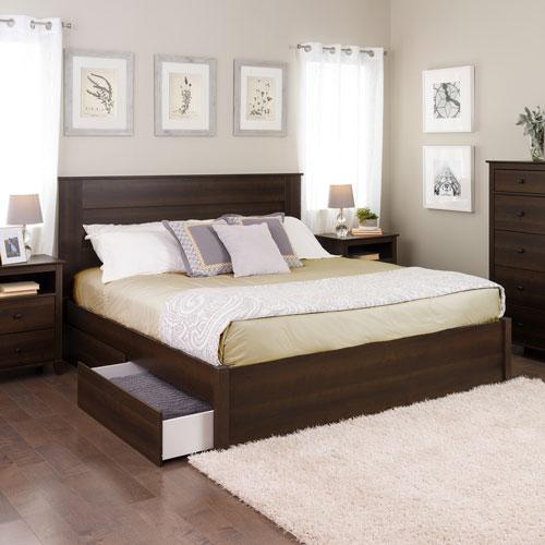 Select Modern Platform Bed with 2-Drawer Storage - King ...