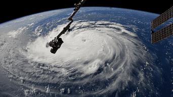 Huracán Florence desde el espacio. Foto: EFE.