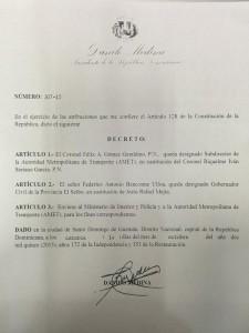 Decreto 307-15.