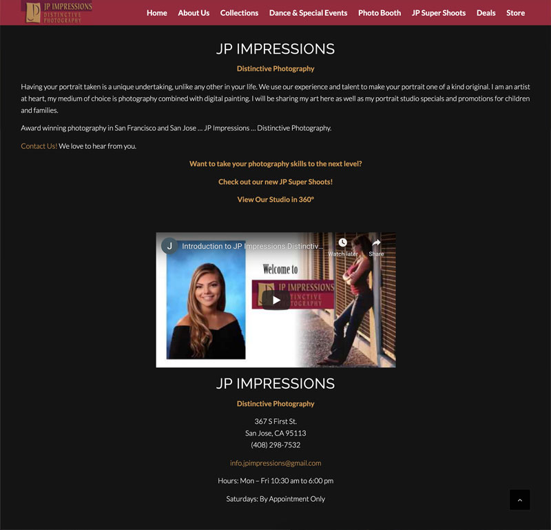 JP Impressions Website