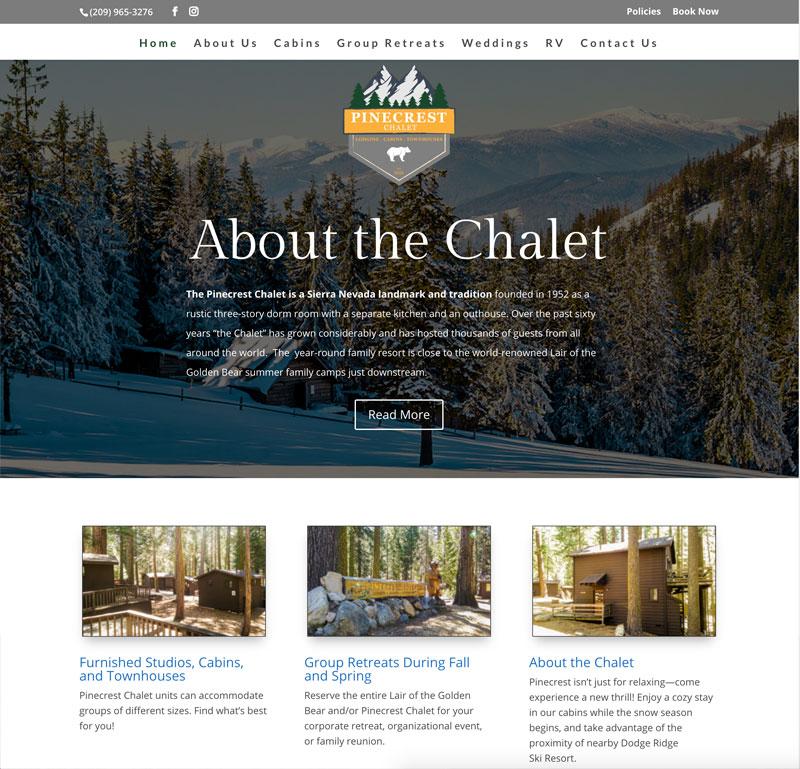 Pinecrest Chalet Website