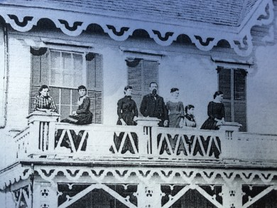 Stearns House, 1874, was located near Stewart Hall.