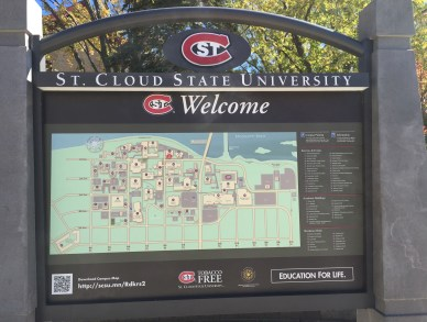 St. Cloud State University map. Photo by Jannet Walsh
