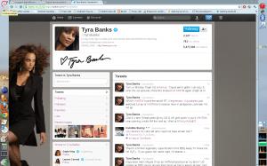 Tyra Banks på Twitter