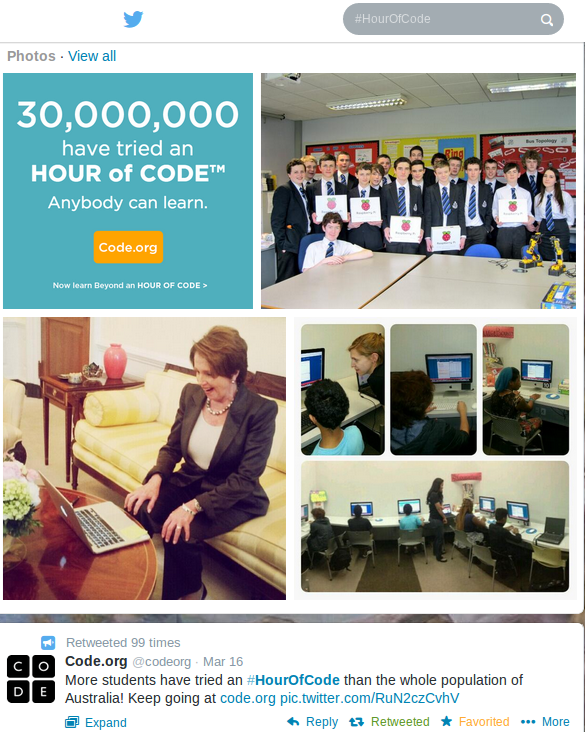 Hour of Code on Twitter