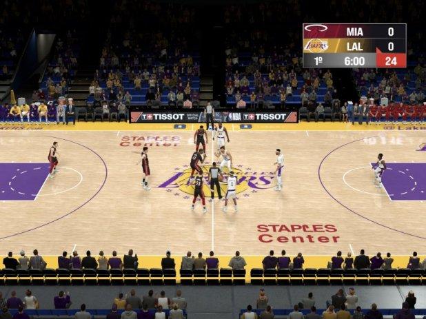 NBA 2K21 Arcade Edition, the start of a match.