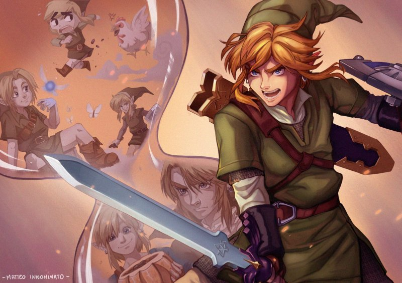 The third position drawing of The Legend of Zelda: Skyward Sword HD Graphic Contest