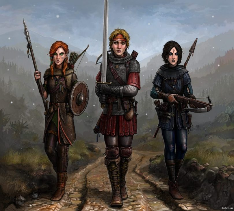 gritty female warriors fantasy art