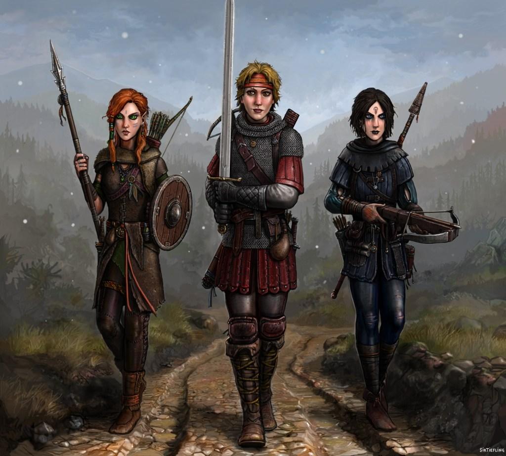 gritty female warriors fantasy art