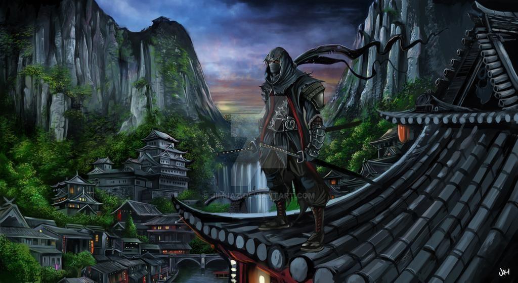 japan_village___ninja_concept_art_by_jimjaz_d7qs2fw-fullview