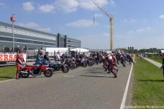 Le Mans style start.