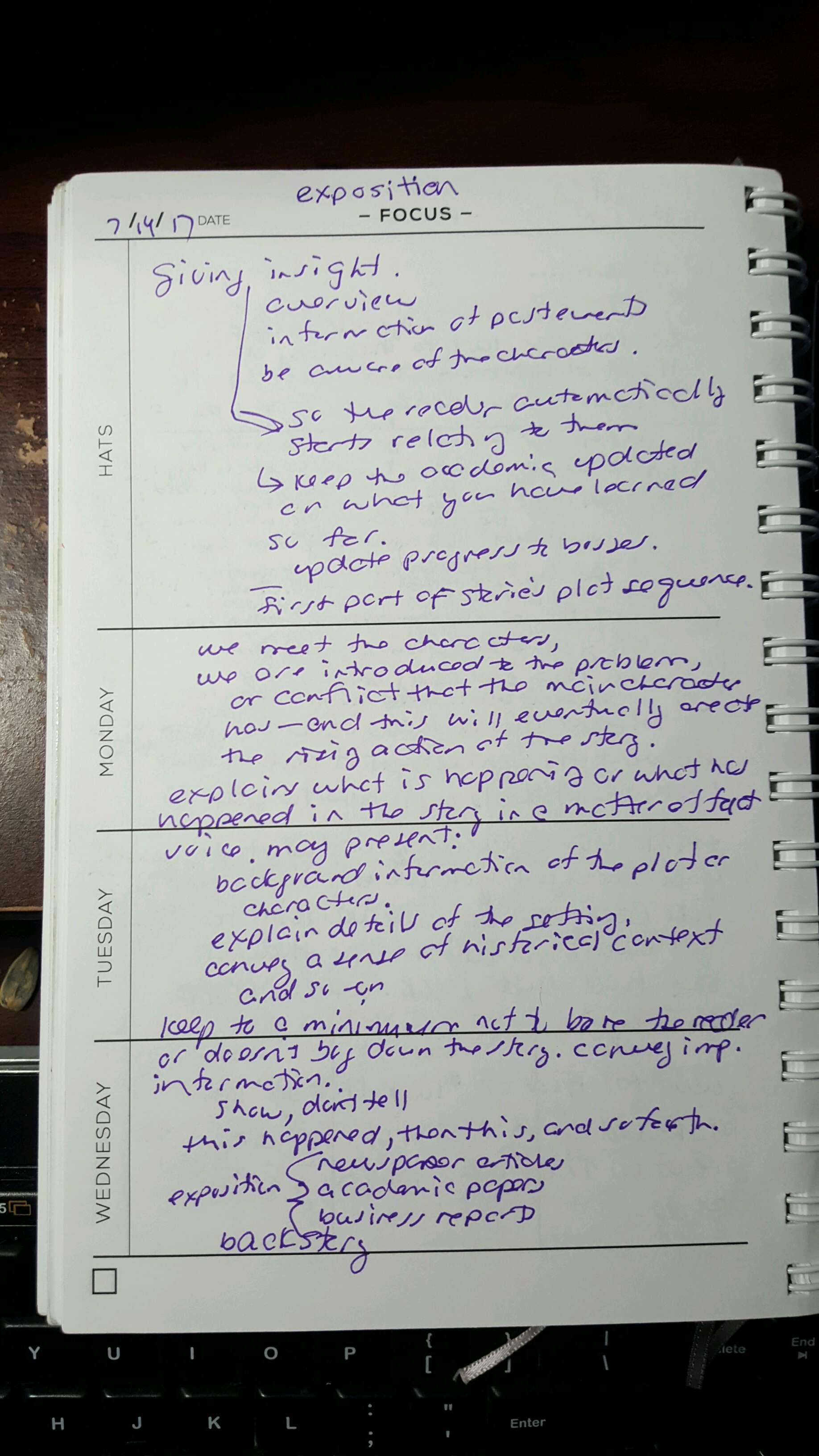 Focus Notes 07-14-17