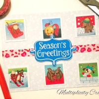 Easy Sticker Card for Christmas in July + GIVEAWAY!