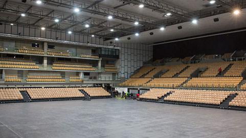 Innsbruck-Olympiahalle Österreich ELAN TransFlex mobille Teleskop-Tribuenen