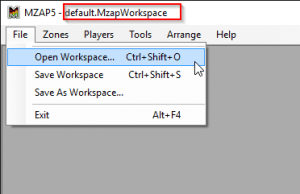 Open Workspace file
