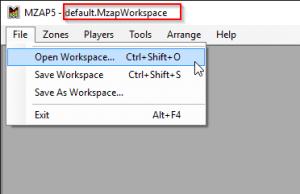 Open Workspace file