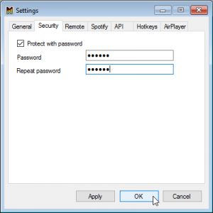 Protect with Password