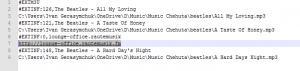 m3u playlist with one radio station