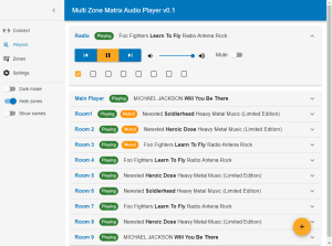 Multi Zone Matrix Audio Player - Players