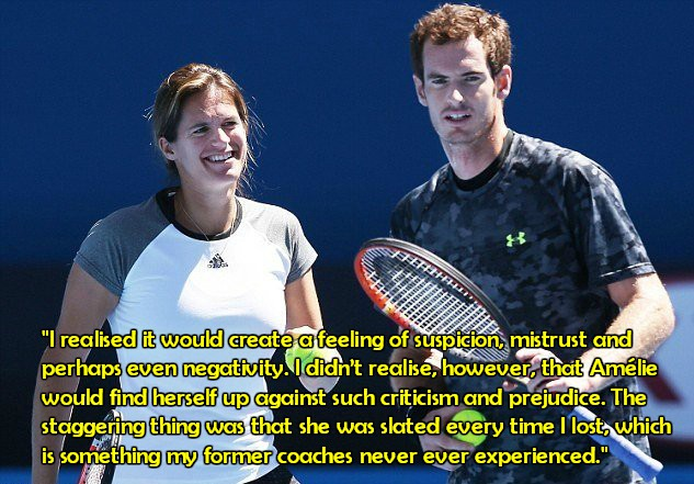 Andy Murray and Amelie Mauresco