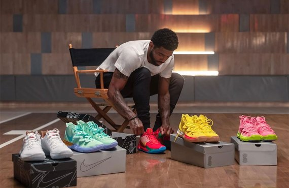 Kyrie Irving debuts SpongeBob x Nike sneaker collection
