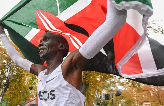 Meet Eliud Kipchoge, the first athlete to finish a marathon…