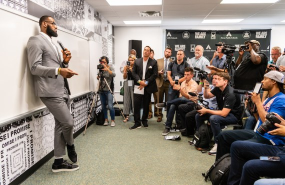 LeBron James partners with ride-sharing app Lyft to provide free…