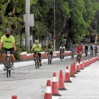 MMDA puts up bike lanes along EDSA in preparation for World Bicycle Day