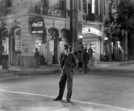 James Stewart as George Bailey, standing in the middle of Bedford Fall. Photo by Gaston Longet.