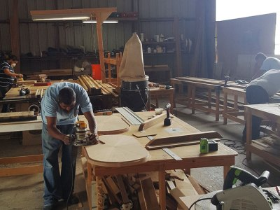 Multitech Technicians Working on Carpentry for Boat Service