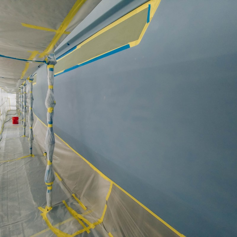 Progress of Yacht Bottom Paint Job