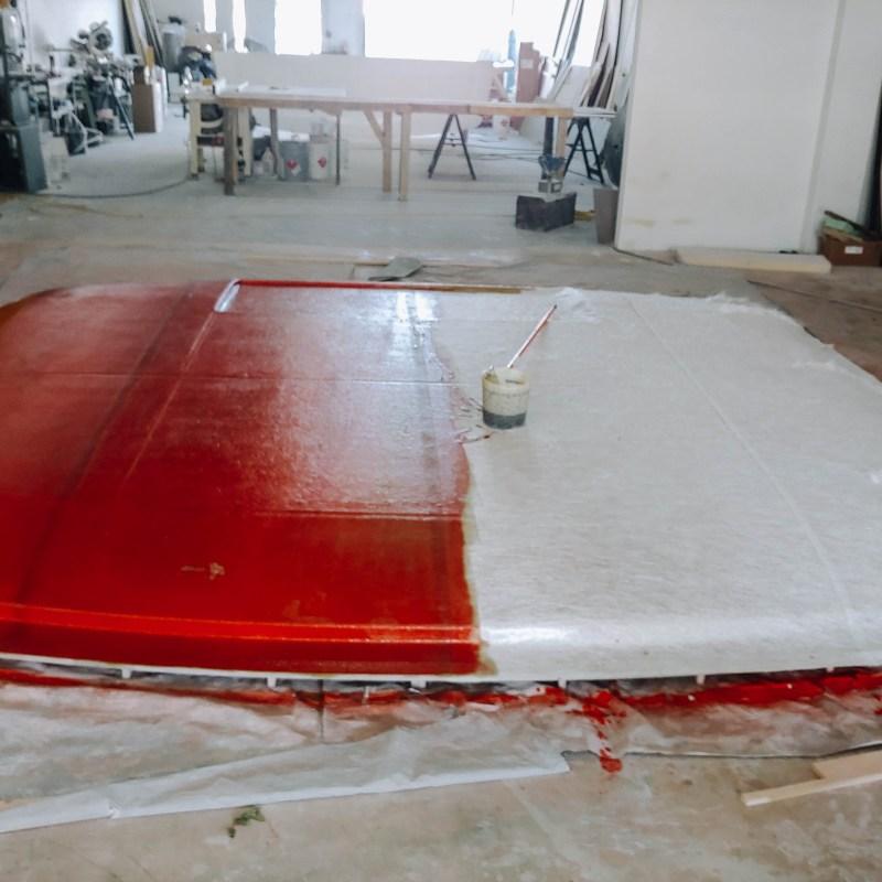 Painting Process of Catamaran Hard Top Bimini