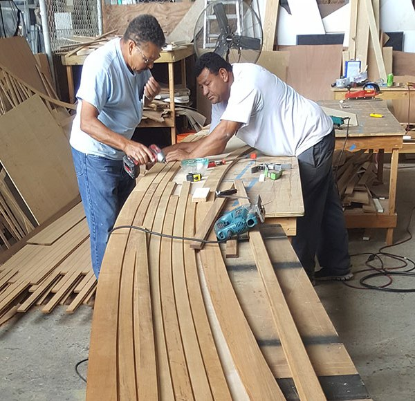 Multitech Technicians Doing Carpentry Work