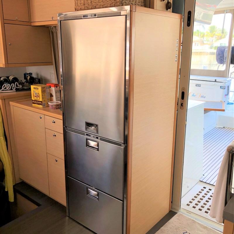 Full Custom Refrigerator Installed by Multitech on Lagoon Catamaran